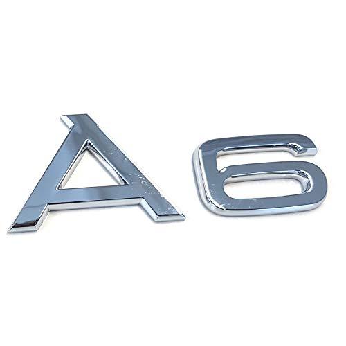 Audi 4F08537412ZZ Schriftzug A6 Emblem Logo Aufkleber Modellbezeichnung, chrom glänzend