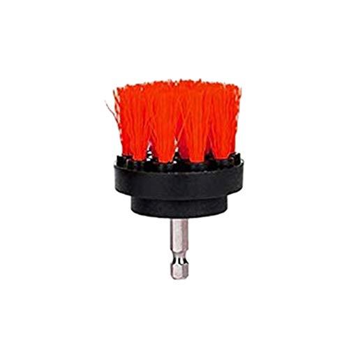 Demarkt - Brocha para Taladro de 2 Pulgadas, fijación para Taladro Atornillador de batería, Potencia para Vidrio, tapicería, sillas, alfombras, Asientos de Cuero y Limpieza de Muebles, Rojo, 2 Inch
