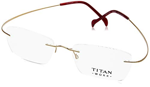 Titan Rimless Rectangular Unisex Spectacle Frame - (TW1028WRM1 52)