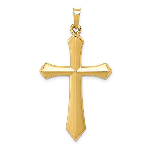 Saris and Things 14k gelbgold poliert Leidenschaft Kreuz-anhänger