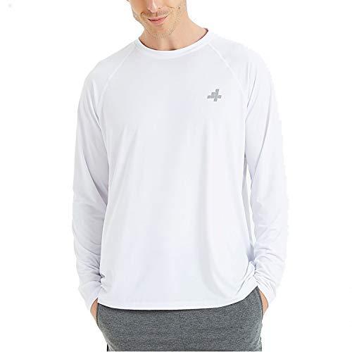 4ucycling Outdoor Oberteile Shirts für Herren - Langarm Atmungsaktives Laufshirt für Radfharen Laufen Jogging Wandern Outdoor UV Schutz UPF 50+