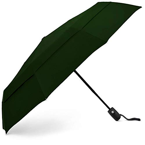 EEZ-Y Umbrella - Compact Travel Umbrellas for Men & Women with Easy Auto Open & Close Button - Strong & Lightweight with Double Vented Canopy - Parapluie de Voyage