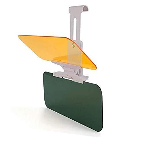 SUNNFLOOWER Visiera Parasole per Auto antiriflesso 2 in 1, Visiere per Guida Diurna e Notturna Visiera Parasole Anti-abbagliamento Visiera Estensibile Universale Anti-UV Bicolore (L,Grigio)