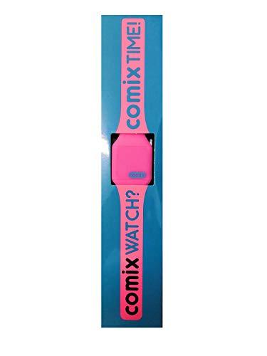 Franco Panini. Orologio da Polso Comix Colors in Silicone Fucsia Fluo a LED