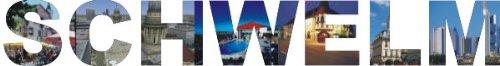 INDIGOS UG - Wandtattoo Wandsticker Wandaufkleber - Aufkleber farbige Wandschrift Städtename Städtename Schwelm mit Sehenswürdigkeiten 40 x 5 cm Länge