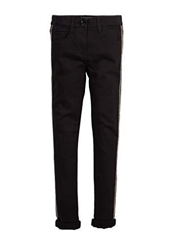 s.Oliver Mädchen Slim Fit: Jeans mit Tape-Detail Black 140.REG