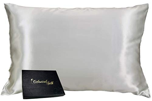 Price comparison product image Celestial Silk 100% Silk Pillowcase for Hair Zippered Luxury 25 Momme Mulberry Silk Charmeuse Silk on Both Sides of Cover -Gift Wrapped- (Standard