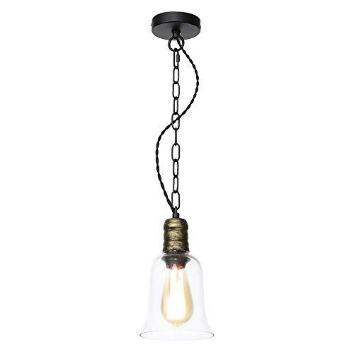 Industriële Mini Hanglamp met transparante glazen kap, verstelbare Edison Boerderij Keukenlamp voor Keuken Eiland, Restaurants, Hotels en Winkels