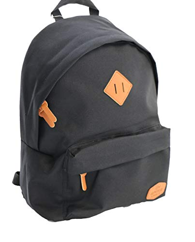 Real Republic Rucksack, Kleiner Rucksack für Schule und Freizeit sowie Alltagsrucksack für Damen und Herren 23 Liter, Schwarz