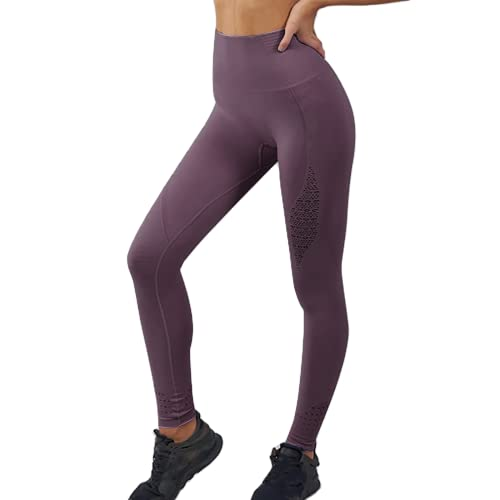 QTJY Pantalones de Fitness elásticos a la Moda para Mujer Pantalones de Yoga Transpirables para Nalgas Pantalones de Entrenamiento de Celulitis para Correr al Aire Libre C XL