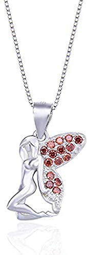 quanjiafu Necklace Fashion Cute Necklace Accessories Silver with Zircon Cute Ivory Clavicle Pendant Necklace