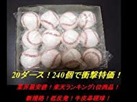 低反発 硬式野球 練習球 240個 20ダース 硬球 実績あり(コモンセ)