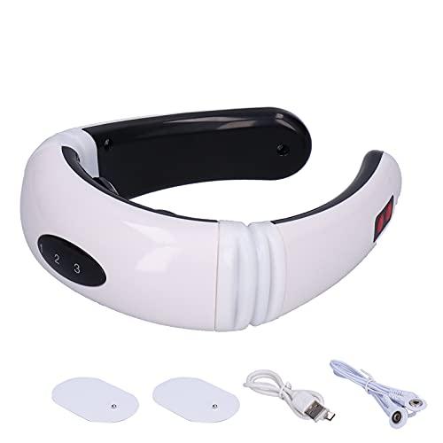 Massaggiatore per il Collo, 6 Modalità di Massaggio 16 Livelli di Forza Riscaldamento Massaggiatore per la Colonna Vertebrale Cervicale Ricarica USB Massaggiatore per il Collo Strumento per Fisioterap