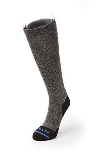 FITS Cushioned Boot - OTC Socks (Brown) Large