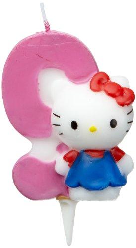 Dekoback 02-08-00176 Candelina di Hello Kitty col Numero 9