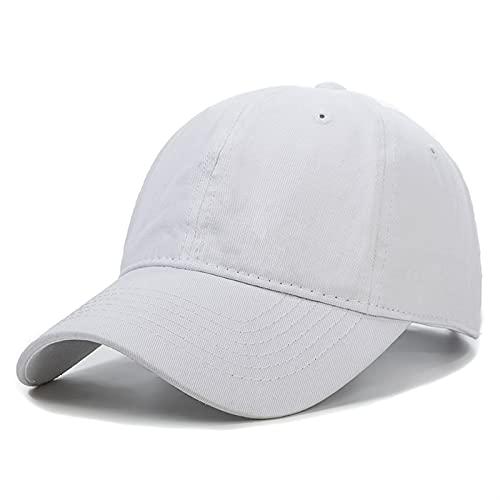 AleXanDer1 Gorra de béisbol Unisex Cap de Dos Colores Costura Lavado algodón Gorra de béisbol Hombres y Mujeres Casual Ajustable al Aire Libre Camionero Gorras (Color : White, Size : 54cm 62cm)