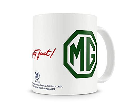 M.G. Safely Fast Taza de café – Novedad 325 ml Premium Calidad Trabajo Taza humor & Caja de regalo Set té café oficina trabajo hogar