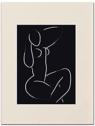 YaShengZhuangShi Imagen de póster 50x70 cm Sin Marco Picasso Gallery Poster Medieval Abstract Neutral Line Art Print Mural Moderno Decoración para el hogar Pintura sobre Lienzo