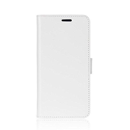 zl one Compatible con/Reemplazo para Funda Oukitel U15 Pro PU Cuero Cartera para TPU Silicone Case Cover (Blanco)