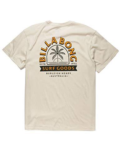 Billabong Men's Classic Short Sleeve Premium Logo Graphic T-Shirt, Grey Goods, Medium