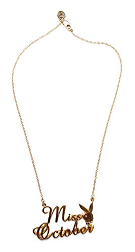 Playboy Halskette Miss Ventilatoren Oktober vergoldet