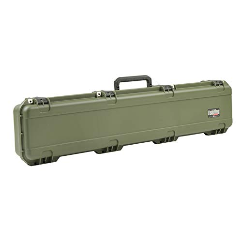 SKB Cases 3I-4909-SR-M iSeries 4909 Hard Exterior Waterproof Utility Single Rifle Case, Military Green