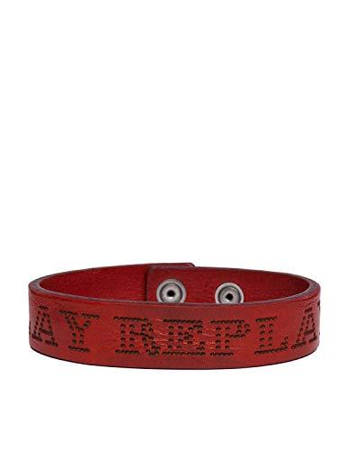 Replay Douglas Lase Leather Bracelet Men's Red