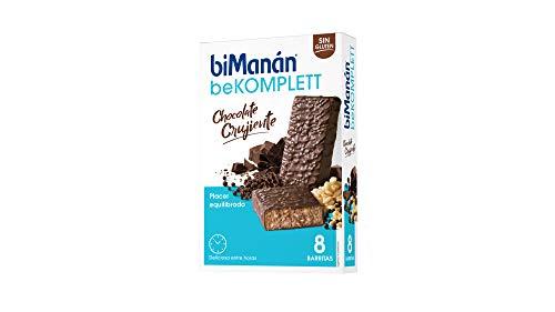 BIMAY biManán - beKOMPLETT - Placer Equilibrado - Barritas Chocolate Crujiente - 8 uds 280 gr