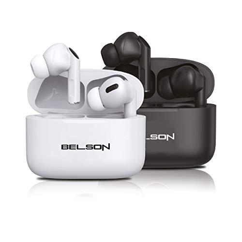 Auriculares In Ear Bluetooth BSA-G91ANC Color Blanco  cancelación de Ruido Activa ANC micrófono HD CVC 3 a 4 Horas de reproducción  Carga en 1 Hora estación Carga de 300mAh