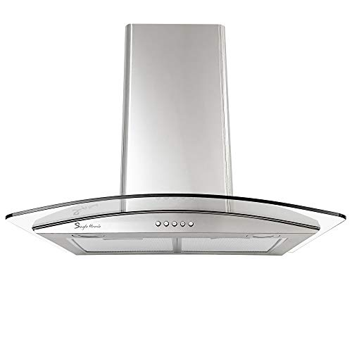 Cooker Hood, 60cm Extractor Fan, 579m³/h Extractor Hood Wall-Mounted...