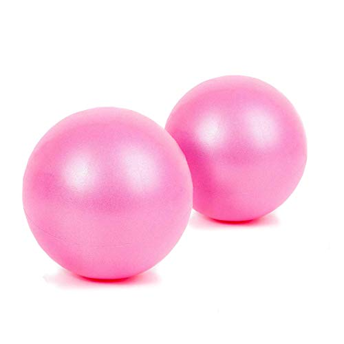FIT Barre Mini Exercise Barre Ball for Yoga,Pilates,Stability Exercise Training Gym Anti Burst and Slip Resistant Balls(2 Pcs) with Inflatable Straw (Pink x 2) by Dobetters