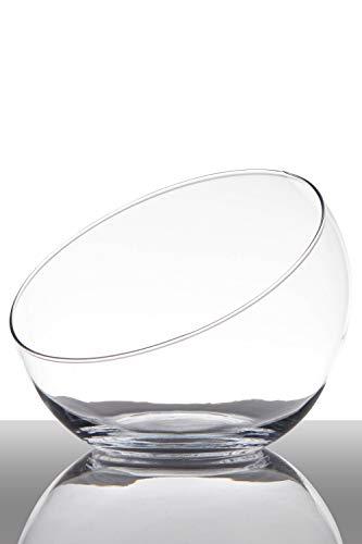 INNA-Glas Set 2 x Bombonera Diana, Redonda, Transparente, 17cm, Ø 9,5cm - Ø 20cm - Pack de recipientes de Cristal - Juego de jarrones