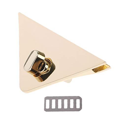 WDFVGEE DIY Triángulo Forma Cierre de giro Cerradura de giro para bolso de mano, hombro Crossbody bolso bolso para hardware piezas de repuesto herramientas del hogar