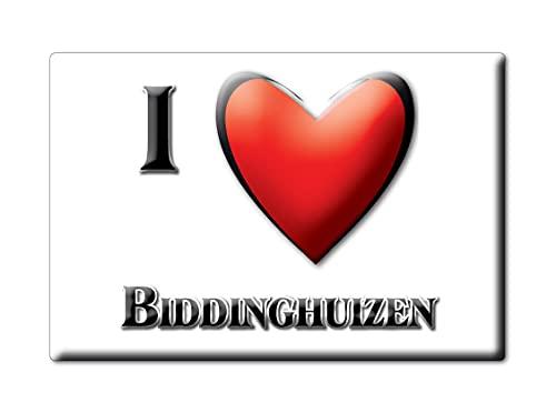 BIDDINGHUIZEN (FL) FRIDGE MAGNET NETHERLANDS FLEVOLAND SOUVENIR I LOVE GIFT PRESENT