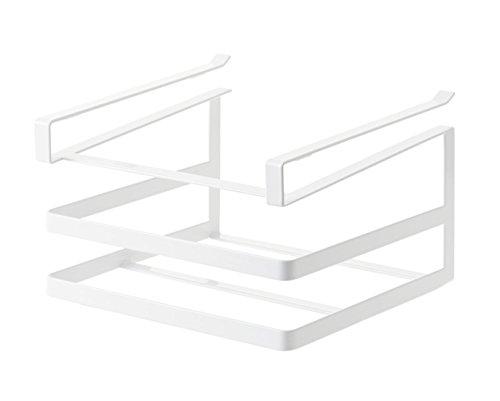山崎実業 タワー 戸棚下まな板&布巾ハンガー ホワイト 2493