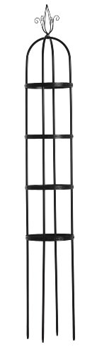 Luster Leaf 931 7.5-Foot Link-Ups Obelisk with 4 Embossed Rings, Black