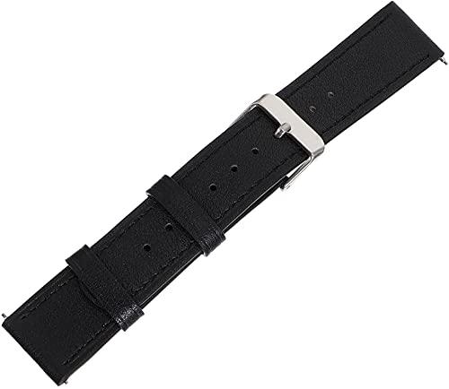 KEEBON Lederarmband weiche Rindsleder Schnellrelease-Riemen Bequeme Uhren-Band-Ersatzuhr-Armbanduhr-Armband-kompatibel für Samsung Galaxy-Uhr aktiv