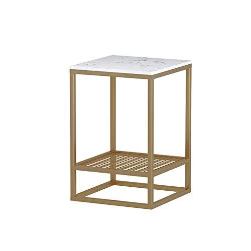 Biurko Storage Table, 2-osobowe kute żelazo, stolik pomocniczy do kawiarni, sklepów, hoteli, biura, sypialni, na sofę, stół, duży obszar, telefon, stół do negocjacji (kolor: biały, rozmiar: 40 x 40 x 55 cm)