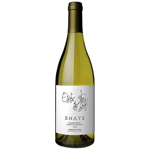 ENATE Chardonnay Fermentado en Barrica - Añada 2018, Vino Blanco - D.O. Somontano - Botella de 75cl - Chardonnay de Aroma complejo y Exuberante - Crianza en Barrica - Finos Matices Tostados