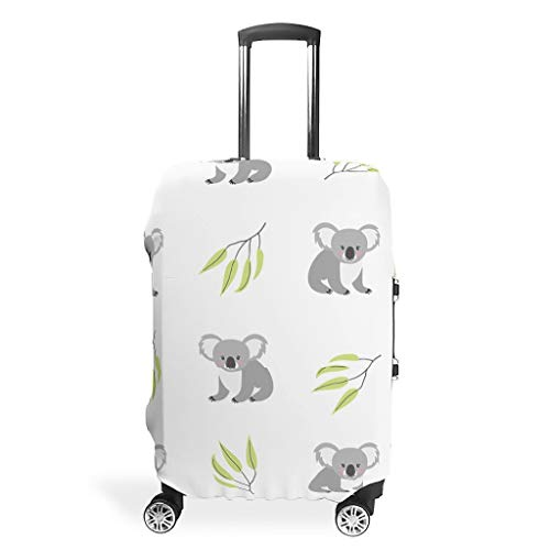 Koala Branch Animals Suitcase Covers Luggage Cover Case Spandex Suitcase Cover Protective Travel Case Cover White White XL(30-32 inch)