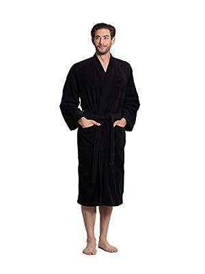 Turkuoise Men's Terry Cloth Robe 100% Premium Turkish Cotton Terry Kimono Collar