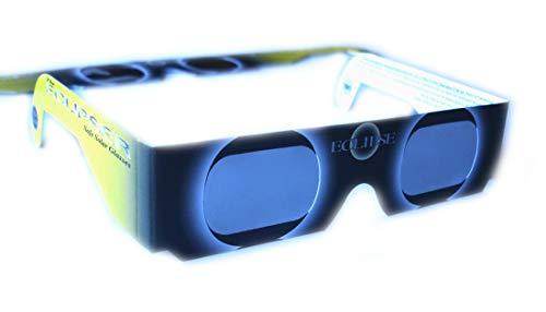 Perspektrum 8 Stück sichere Sonnenfinsternisbrillen (SOFI-Brille) ... Brillen zur Beobachtung von totaler und partieller Sonnenfinsternis, Planetenpassage BZW. Transit (mit hochwertiger Schutzfolie)