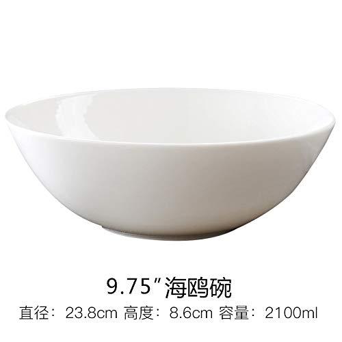 Schüssel Weiße Porzellanschüssel, Die Große Schüssel Der Nudel-Haushalts-Sofortige Nudel-Große Schüssel-Große Kapazitäts-Reis-Schüssel 9 Zoll-Küchen-Schüssel-Nudel Isst