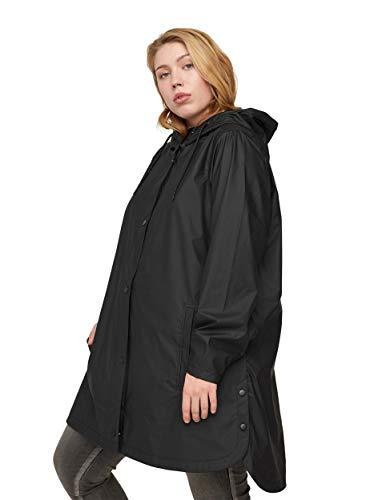 Zizzi Große Größen Damen Regenjacke mit Kapuze und Taschen Gr 42-56