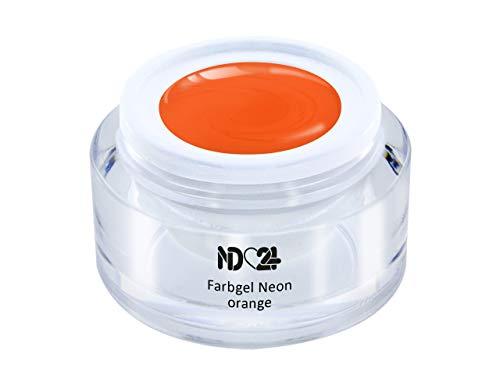 5ml - UV LED FARBGEL - Gel Neon orange - ORANGE Color NagelGel hochdeckend mittelviskos für Nageldesign Modellage - French Nail Art Gel - Studio Qualität - MADE IN GERMANY