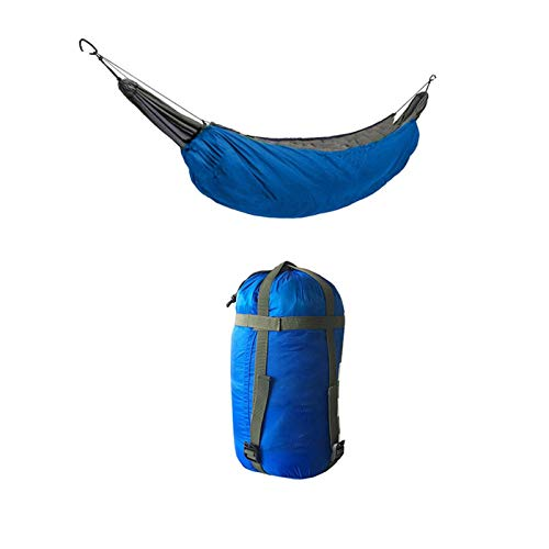 Portable 1 Person Hanging Hammock Rope Swing Fabric Sleeping Bed, for Camping Travel Outside Trees/Multicolor Hammocks