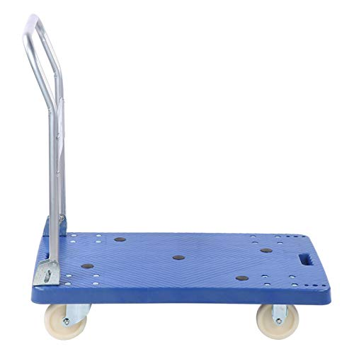 GAESHOW Folding Hand Truck Heavy Duty Foldable Flatbed Trolley Trailer Flat Bed Pulley 360 Kg Flat Bed Truck