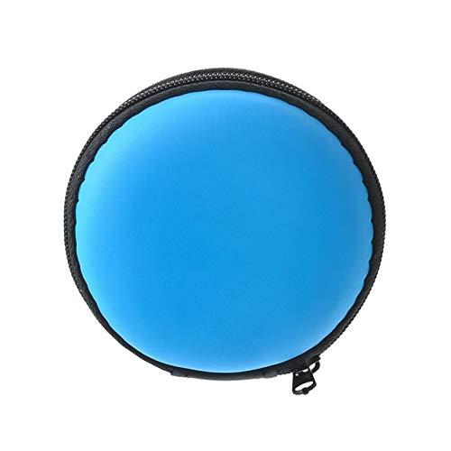 Mdsfe Mobile harde schijf opbergdoos bewaardoos oorschelp bewaardoos voor elektronische onderdelen - 8,3 x 3,5 cm blauw