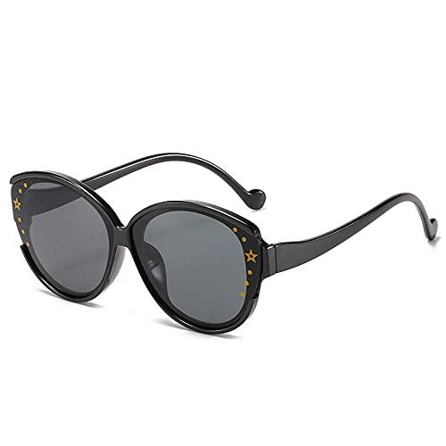 FJCY Gafas de Sol Redondas de Ojo de Gato para niños Tentáculos de Moda Decoración Gafas de Sol para niños con Degradado Niños Niñas Unisex Retro-6-Dj6637-C1
