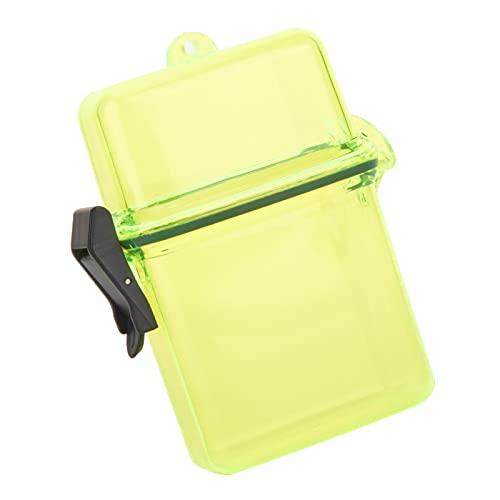 Jopwkuin 62g Tauchdichtungsbox, zum Surfen Kanu Kajak Can(Transparent Yellow)